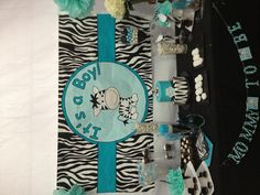 Zebra Baby Shower....could be pink or purple for a girl!