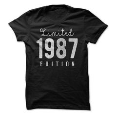 1987 Limited Edition B-day 30th Birthday T-Shirt Tee by TeeSpaceX