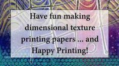Gelli printing on textured paper. Gelli Arts - YouTube