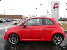 Red Fiat 500 Sport Hatchback