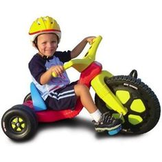 I was a demon in the neighborhood with the big wheel.  Back in the good old days without the helmet.