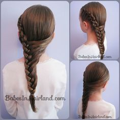 Half French Braid Hairstyle from BabesInHairland.com #frenchbraids #hairstyles #braids