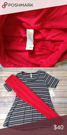 LuLaRoe One Size red leggings True red. New without tags. Never worn or washed. Still in plastic bag. Got as a mystery pair and I already have red. LuLaRoe Other