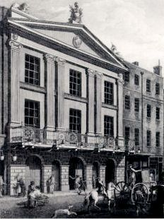 Facade of Drury Lane in 1775