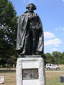 Statue of Steuben at Valley Forge