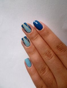 Mindennapi örömök: Kék geometrikus nail art My Nails, Nailart, Gemstone Rings, Gemstones, Beauty, Gems, Jewels, Beauty Illustration, Minerals