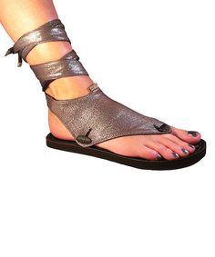 Loving this Silver & Black Cosmo Flat Reversible Sandal on #zulily! #zulilyfinds  I so want these!!!