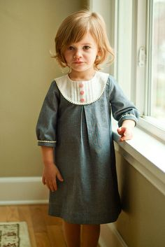 Oliver + S Chambray Playdate Dress.  Might be worth plucking up the courage to attempt a three scissor pattern