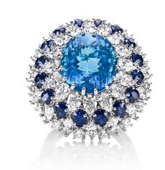 Harry Winston  --  Paraiba Tourmaline and Diamond Ring