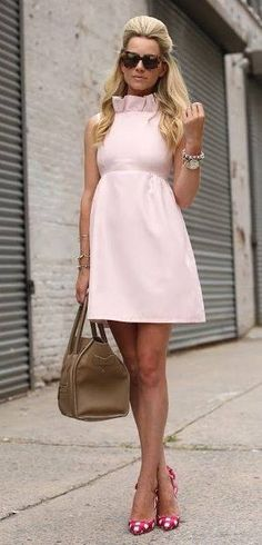 Cute pale pink dress