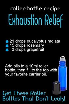 Exhaustion Relief Stainless steal roller balls work the best and glide smoothly. They also dont disintegrate from the oils. These roller bottles are re-usable and come with a tool to open the roller balls with ease! Doterra Essential Oils, Young Living Essential Oils, Essential Oil Diffuser, Essential Oil Blends, Roller Bottle Recipes, Aromatherapy Oils, Aromatherapy Recipes, Bottle Openers, Antique Bottles
