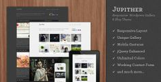 JUPITHER: THEMEFOREST RESPONSIVE GALLERY THEME  #gallerytheme