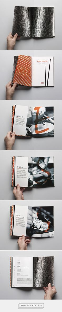 Oriental recipes´s #booklet or #brochure by Gustavo Henrique Mendes. Love the full page and full spread photos!