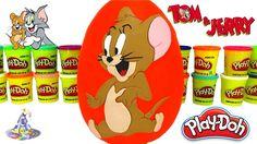 Huevo Gigante Sorpresa de Jerry de Tom y Jerry de Plastilina Play Doh en...