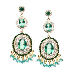 Go green (and ultra-glamorous) with Dashing Desire, a coveted pair of earrings in winter's must-have hue.