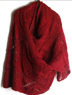 Hollowed-Out Red Sweater