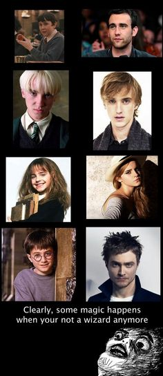 And Neville Longbottom turned out to be the hottie :) clearly some magic happens when you're not a wizard lol