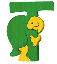 Montessori - Waldorf wooden puzzle letter T(urtle), made by hand of maple wood,no harmful colors and no lacquer  These are beautiful!