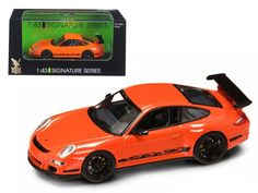 Porsche 911 997 GT3 RS Orange 1/43 Diecast Car Model by Road Signature