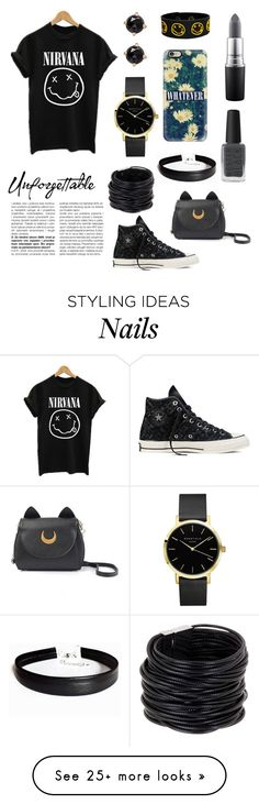 """""""I'm With the Band"""" by ashleymmck on Polyvore featuring Casetify, Converse, MAC Cosmetics, Kester Black, Saachi, Irene Neuwirth, bandtshirt and bandtee"""