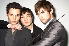 The men of Gossip Girl, yes please. The first casting where they are ALL gorgeous.