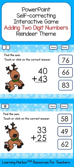 This PowerPoint interactive two-digit addition activity will be a hit with your students.