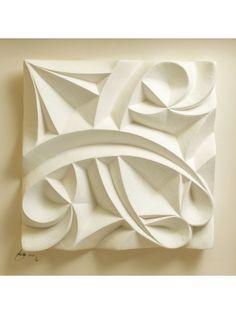 Pangolin London - Cursive by Halima Cassell Plaster Sculpture, Plaster Art, Stone Sculpture, Sculpture Clay, Abstract Sculpture, Wall Sculptures, Steinmetz, Tile Art, Tiles