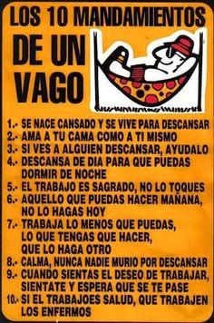 Los 10 mandamientos de los vagos #Humor #LOL