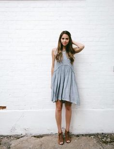 Soft comfy gray dress