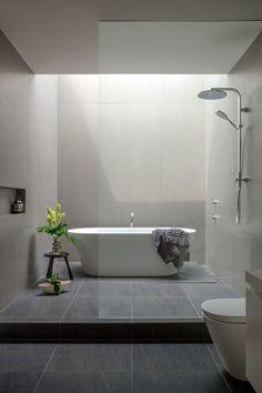 Modern Bathroom Design and plus simple bathroom designs and plus modern bathtub and plus modern bathroom decor Modern Contemporary Bathrooms, Modern Bathtub, Modern Master Bathroom, Modern Bathroom Decor, Bathroom Styling, Small Bathroom, Disney Bathroom, Ikea Bathroom, White Bathroom