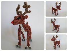 Rainbow Loom Rudolph reindeer Part 1/2 Loombicious - YouTube