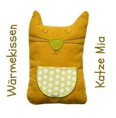 ♥ Katze Mia ♥ Wärmekissen ♥ Traubenkernkissen ♥ von siebenland auf DaWanda.com
