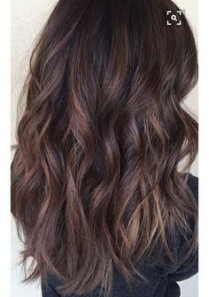 Brown hair lowlights hairstyles curly wavy beachy curls