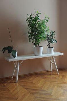 Ilmari Tapiovaara Pirkka bench as a shelf for plants