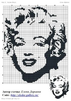 I'm going to make this for my sister one day! A Marilyn Monroe cross stitch cushion!