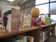Thanksgiving display with cookbooks!