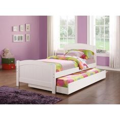 Read on and find out how to design a youth room with white trundle bed with drawer. Not just trundle bed with drawers is part of the design of the room, but, textiles and walls play an important role. Twin Bedroom Furniture Sets, Kids Bedroom Sets, Girls Bedroom, Bedroom Ideas, Queen Bedroom, Bedroom Inspiration, Design Inspiration, White Trundle Bed, Trundle Bed Frame