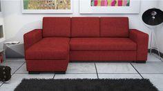 Canapé d'angle convertible et réversible NEW SCOTT coloris rouge prix promo Canapé pas cher Conforama 429.00 € TTC au lieu de 699 €