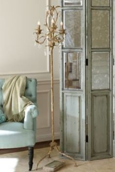 Katherine Chandelier Floor Lamp from Soft Surroundings $498.00 Lovely finish, see larger image