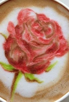 Rose Latte Art / http://imgfave.com
