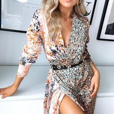 Bloom Spliced Print Dress – Never Fully Dressed New Outfits, Fashion Outfits, Wrap Dress, Dress Up, Late Summer Weddings, Classic Style, My Style, Wedding Rehearsal, Vogue