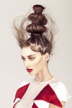 44 Trendy Ideas fashion show art hair 44 Trendy Id+ Crazy Hair, Big Hair, Braided Hairstyles, Cool Hairstyles, Avant Garde Hairstyles, Wild Hairstyles, Hairstyles Pictures, High Fashion Hair, Runway Hair