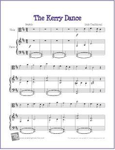 The Kerry Dance | Celtic Free Sheet Music - http://makingmusicfun.net/htm/f_printit_free_printable_sheet_music/kerry-dance-viola.htm