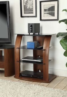 Jual Furnishings JF313 Entertainment Unit HiFi Stereo Stand In Real Walnut  This stunning entertainment unit is as practical as it is stylish. Used by many for the storage of HiFi equipment such as record players and speakers and also to house AV equipment where TV screens are wall mounted.