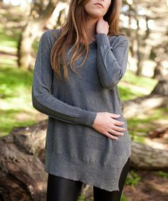 Love this Gray Asymmetrical Navigate Sweater - Women by Vintageous on #zulily! #zulilyfinds
