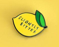 PRE-ORDER Slightly Bitter enamel pin by samweirforever on Etsy