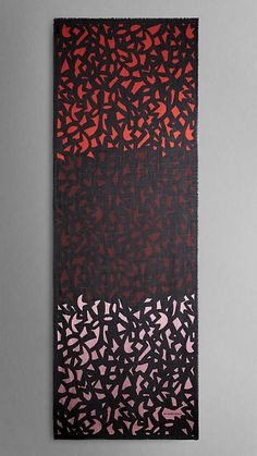 Graphic Leaf Print Cashmere Silk Scarf | Burberry