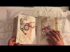 Teal Roses Vintage Lady Journal Flip Through - YouTube
