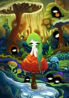 Mushroom Girl by zutto @ Flickr
