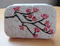 Polymer Clay Filigree Altoid Tin Craft Cherry Blossom Altoids size by ColorfulClay